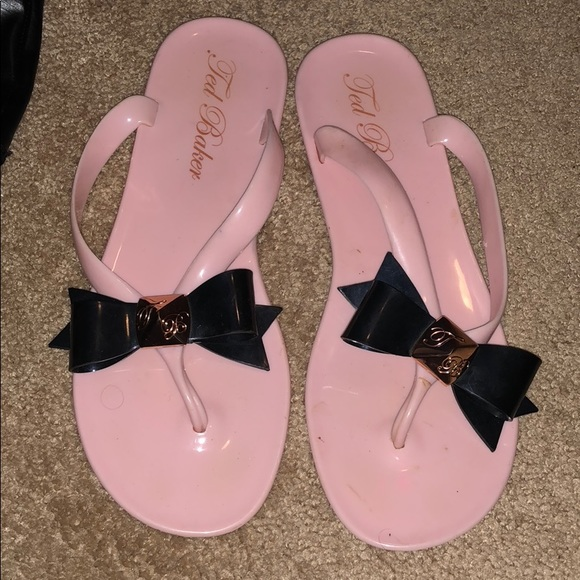 bc6027bc1e0abb Ted baker London plastic flip flops with bow